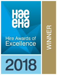 Winner of the Hire Awards 2018 Logo