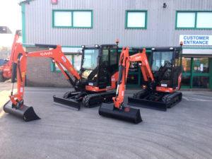 New Kubota 3tonne Excavators