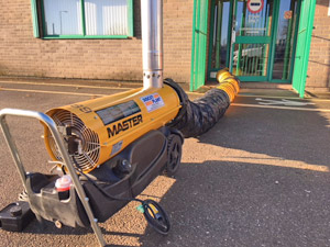 Master BV77E Indirect Diesel Oil Heater Available for Hire from Didcot Plant