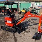 The new Kubota 1.6 tonne excavator