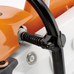 Detail of the anti-vibration system on the Stihl TS410 Disc Cutter