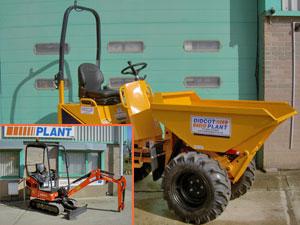 Thwaites Hi-Tip Dumper and Kubota Mini Excavator