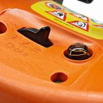 Detail of the manual fuel pump on the Stihl TS410 Disc Cutter