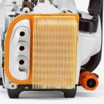 Detail of the air filtration system on the Stihl TS410 Disc Cutter