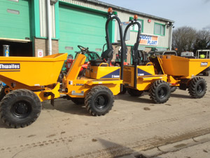 New Thwaites 3t Swivel Skip Dumpers - Available from Didcot Plant