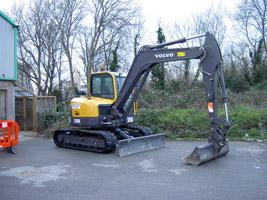 Volvo 8-tonne ECR88 excavator