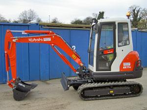 New Kubota KX71-3 mini excavator