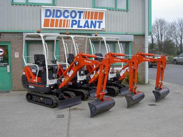 Kubota KX36-3 1.5-tonne mini excavators