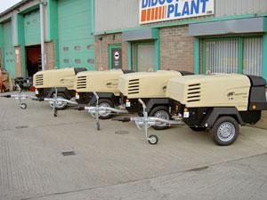 Fleet of Ingersoll Rand Compressors