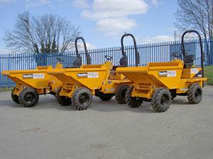 Thwaites Alldrive 2-tonne front tip dumper fleet