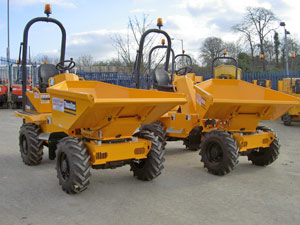Thwaites Alldrive 2 tonne Powerswivel dumpers