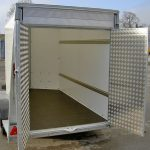 The rear of the Ifor Williams BV105 box van trailer