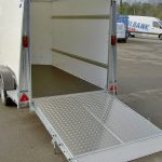 The ramp into the Ifor Williams BV105 box van trailer