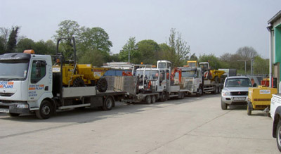 The Didcot Plant Hire Fleet at the Depot