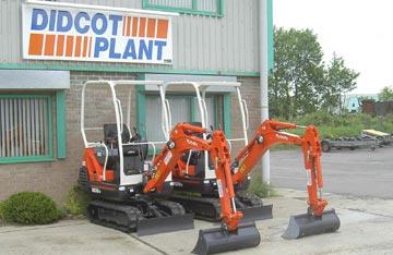 New Kubota mini excavators arrive at Didcot Plant