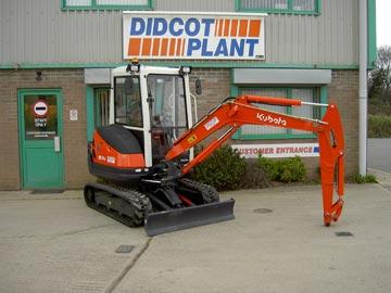 A new Kubota KX713-tonne mini excavator