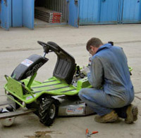 Member of the Didcot Plant workshop staff servicing a piece of equipment