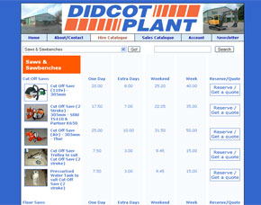 Screenshot of the Didcot Plant website