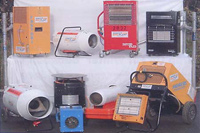 Photo of heaters and building dryers