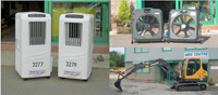 Photos of Fans and Mini Excavator