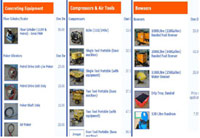 Online Hire Catalogue