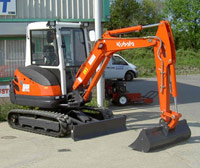 3-tonne Kubota KX71-3 mini excavator