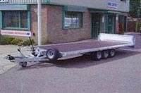Brian James triple-axle car transporter trailor