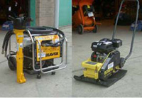 Photos of JCB Beaver III and Bomag 18/45 Plate Compactor