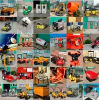 Montage showing the range available for hire from Didcot Plant