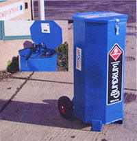 Photo of a mobile bunded fuel drum