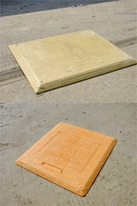 GRP road plate and trench cover