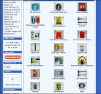 Online sales catalogue