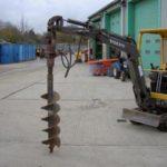 Earth Auger to suit 1.5 tonne Mini Excavator