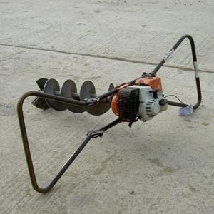 Earth Auger, 2 man engine driven