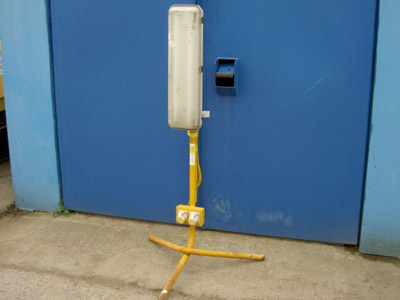 Fluorescent 110v Plasterers Light with stand
