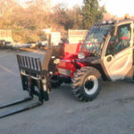 6m Telehandler with forks fitted