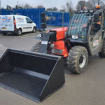 6m Telehandler with re-handling bucket fitted