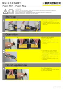 Karcher Carpet Cleaner Quick Start Guide