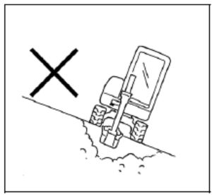 Figure showing an excavator working on a slope
