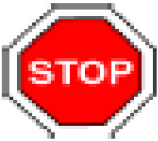 A stop logo indicating important information
