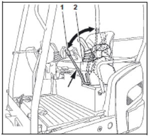 Diagram of the operator's place showing the left control console