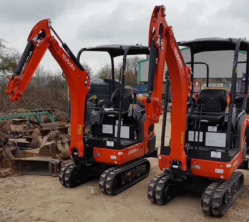 Kubota KX015-4 Mini Excavators - part of the Didcot Plant hire fleet