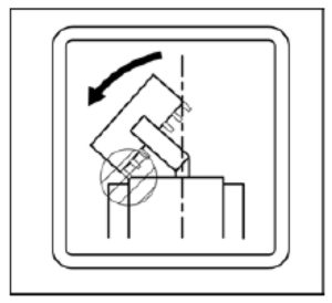Figure showing a large bucket hitting the excavator's cab