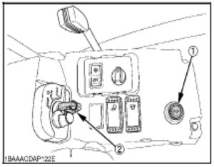 Figure showing the engine stop knob