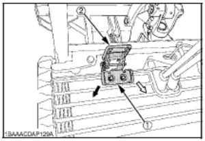 Figure showing the auxiliary port pedal