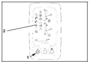 Figure showing how to activate the auxiliary port function