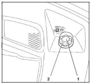 Figure showing the filler cap