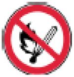 No smoking alert icon