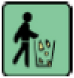 Spilled fuel icon